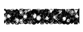 Swarovski 5951 Jet Crystal Metallic Silver Multi Fine Rocks Tube
