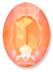 Custom Effect Ultra AB Orange on Swarovski-4120