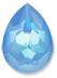 Custom Effect Ultra AB Blue on Swarovski-4320