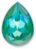 Custom Effect Ultra AB Emerald on Swarovski-4320