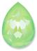 Custom Effect Ultra AB Lime on Swarovski-4320