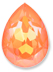 Custom Effect Ultra AB Orange on Swarovski-4320