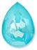 Custom Effect Ultra AB Turquoise on Swarovski-4320