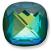 Custom Effect Ultra AB Emerald on Swarovski-4461