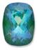 Custom Effect Ultra AB Emerald on Swarovski-4568