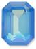 Custom Effect Ultra AB Blue on Swarovski-4610