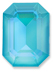 Custom Effect Ultra AB Turquoise on Swarovski-4610
